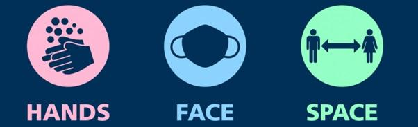 Hands face space logo