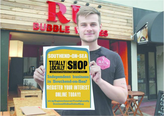 RU holding totally locally Southend poster